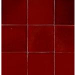 Zelliges rouge carmin