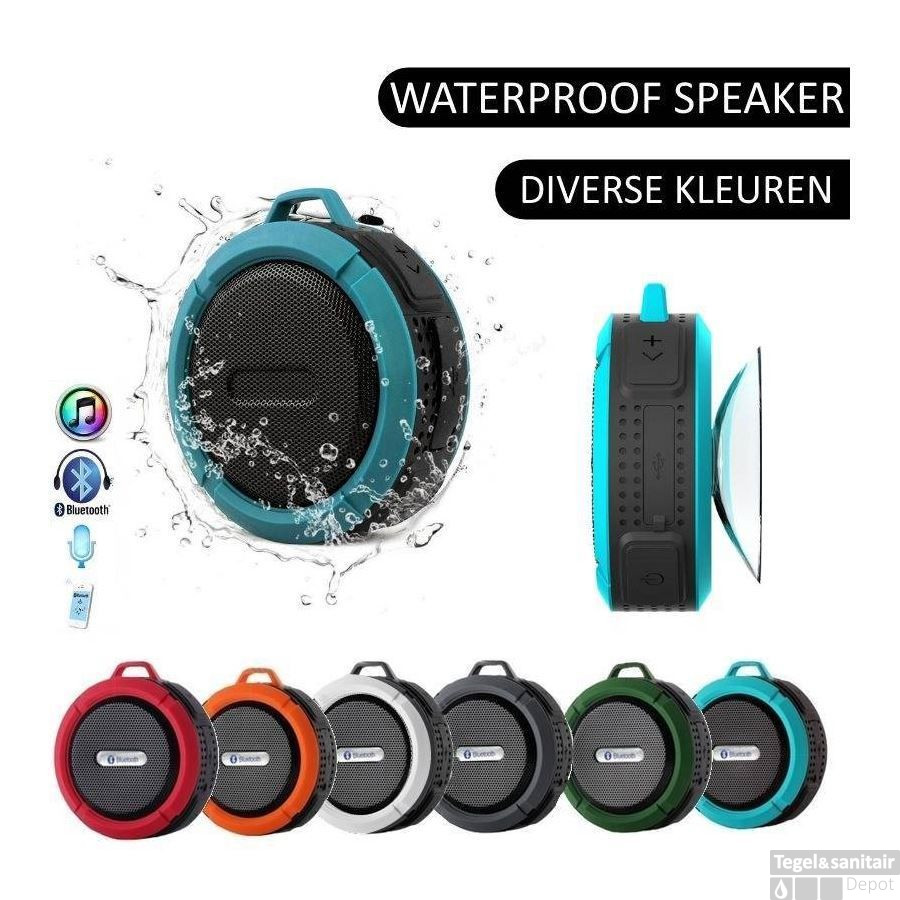 Speaker Voor Badkamer Speaker Waterbestendige Bluetooth Douche Bad Mp3 Waterproof Groen