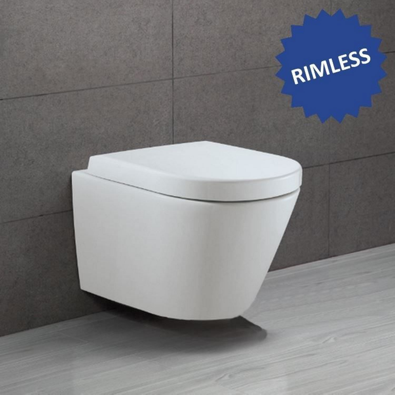 Compact Hangtoilet Hangtoilet Alterna Opus 2 Rimless Keramiek 3m Coating Softclose
