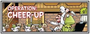 Scene fra Muppet Show-tegneserien