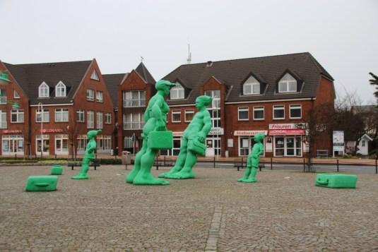 Kunstwerk am Bahnhof Westerland
