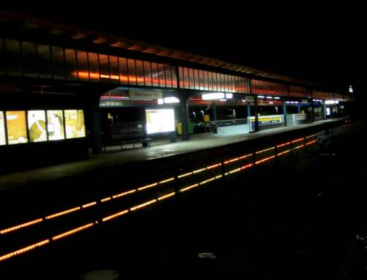 Toll beleuchtet - Bahnhof Oberhausen