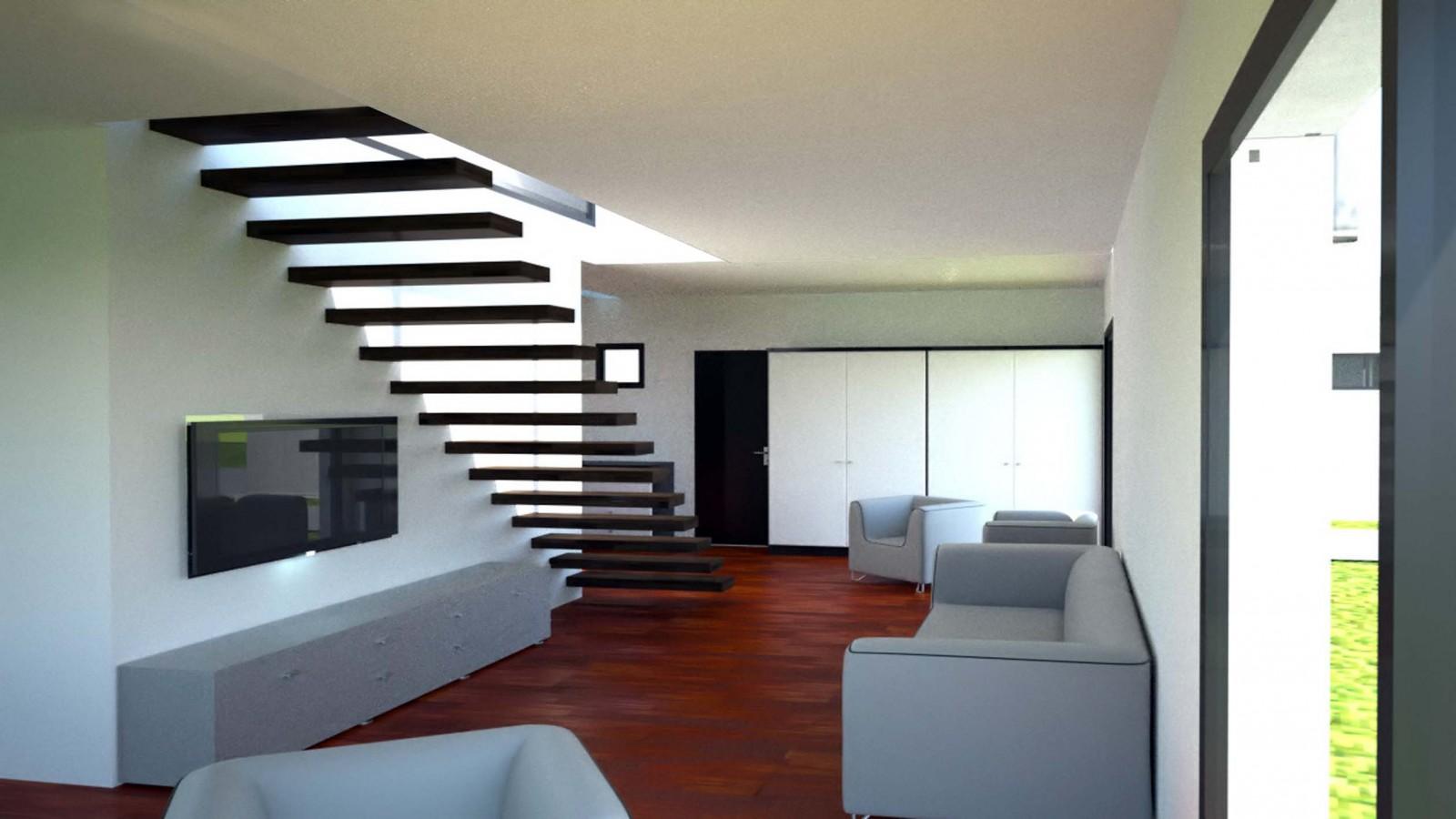 Interieur Maison D\'architecte Contemporaine | Salon Sejour Cuisine ...