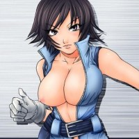 Next time Asuka Kazama shoulbe choosing her outfit more carefull - this one doesn't even cover her boobs!