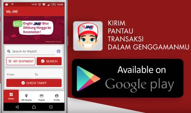 MyJNE: Kirim, Pantau dan Transaksi Barang dengan Aplikasi di Smartphone