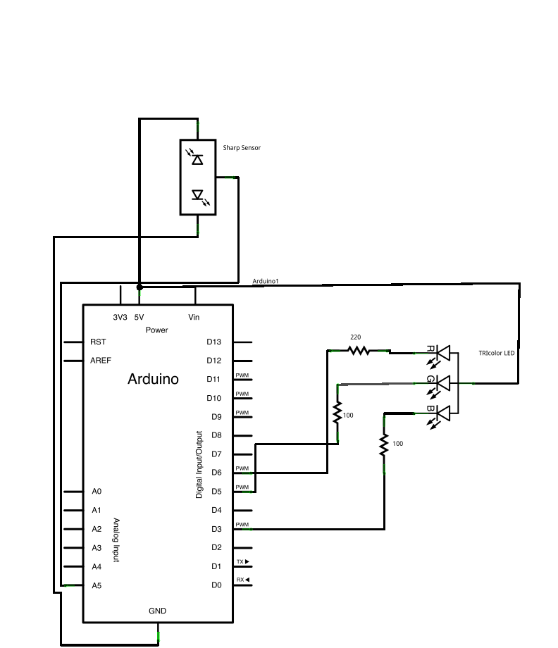 creating a circuit with arduino code