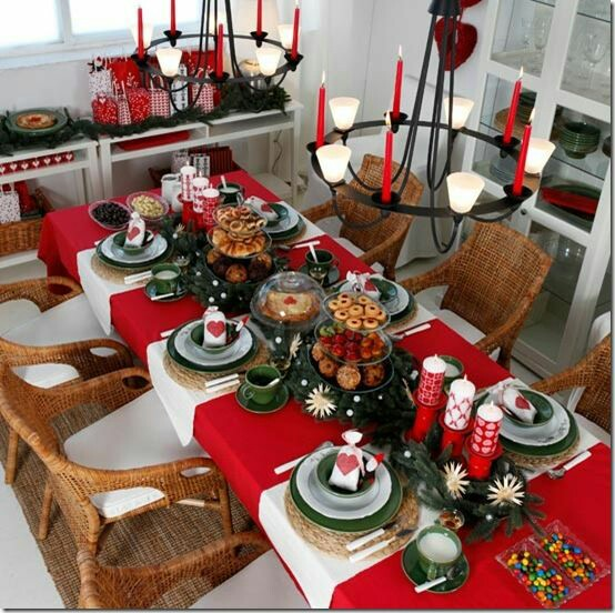 Navidad ideas para decoraci n mesa navide a telares for Ideas de decoracion navidena