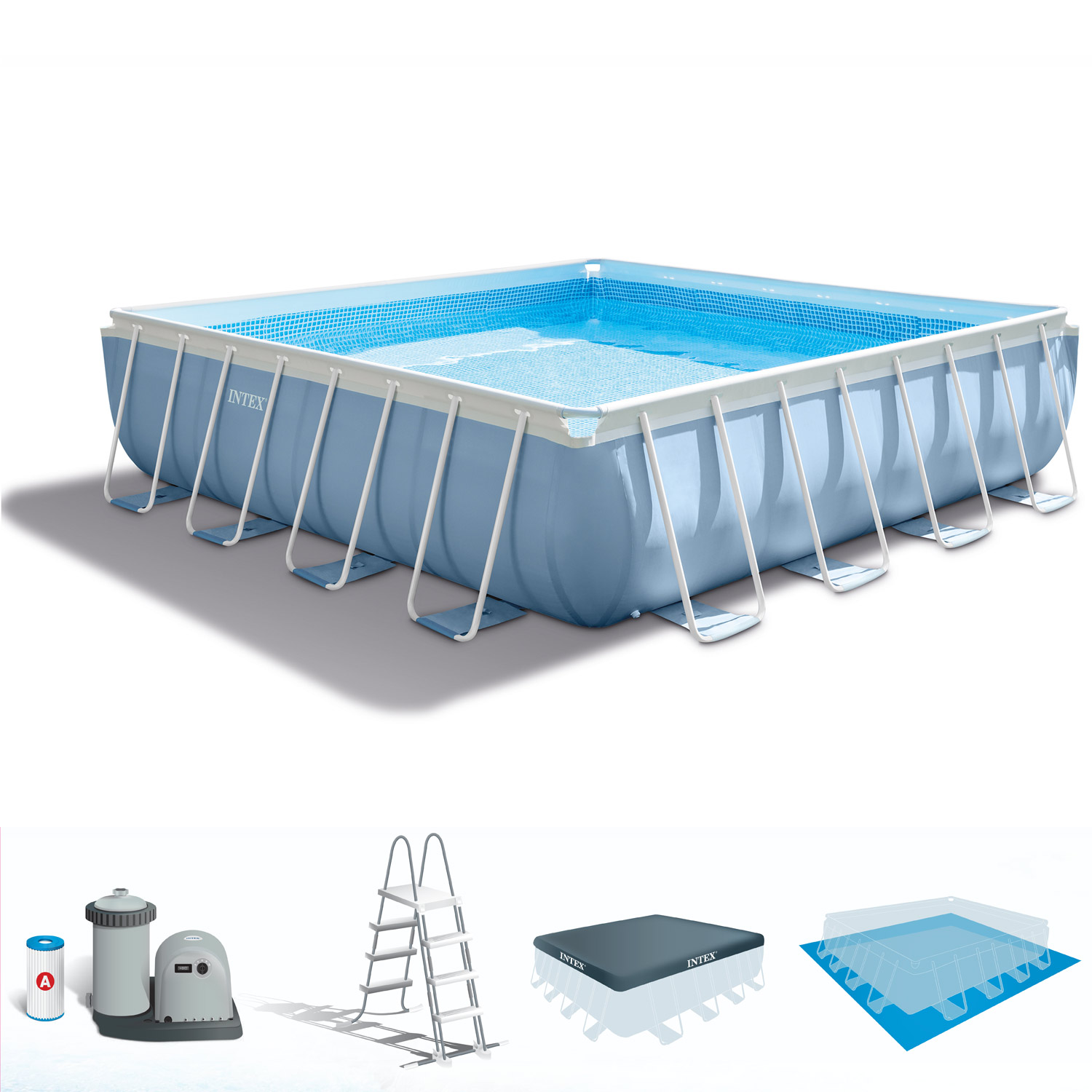 Filter I Zwembad Intex Prism Frame Pool With Filter Pump