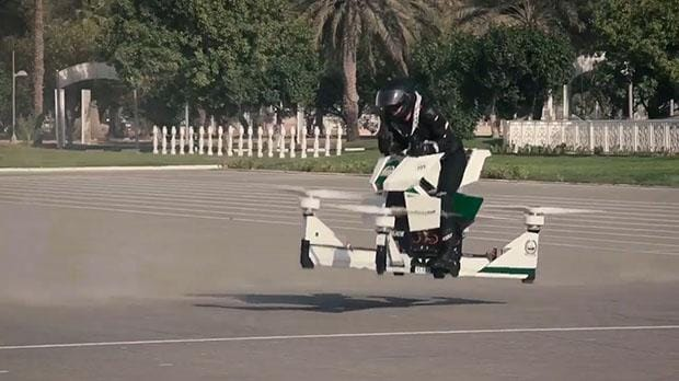 Test 1 Future Jobs Dubai Police Test Out Hovering Motorbikes To Join Future