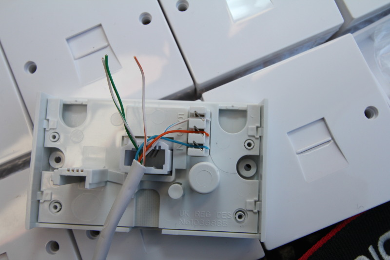 Telephone Wiring Colour Code - BT Telephone Extension Socket DIY
