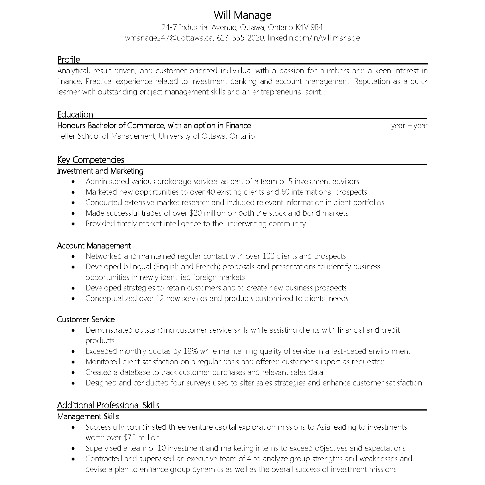 how to make a resume canada