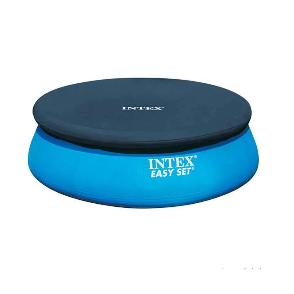 Piscinas Intex Site Capa Para Piscina Easy Set 8 Azul Intex Telhanorte