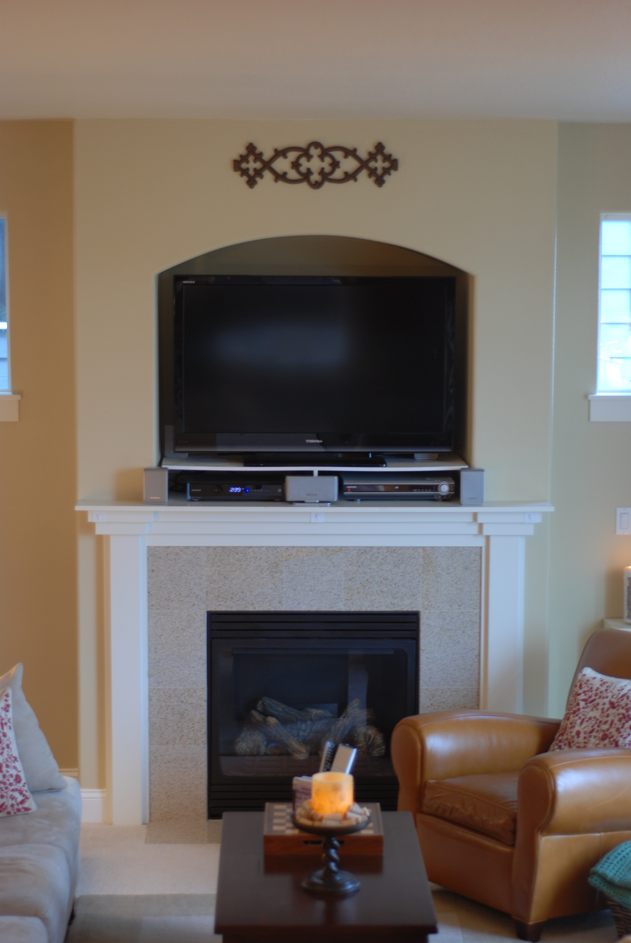 Television Over Fireplace Design Tv Over Fireplace Where To Put Components Uq75 Roccommunity