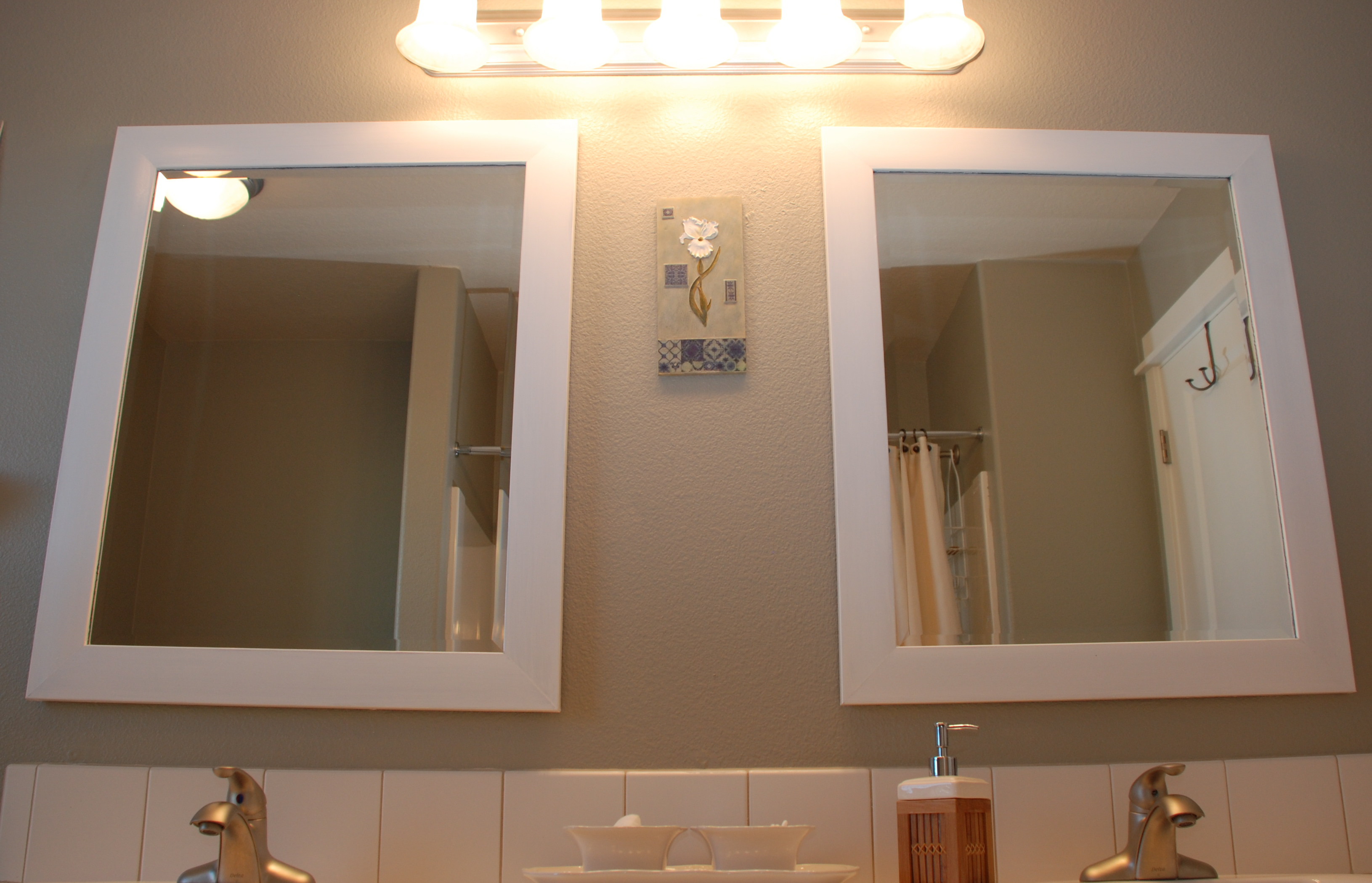 Before amp after bliss our guest bath mini makeover tell