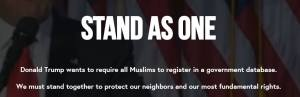 'Stand as One' web-site asks people to register as Muslims post Donald Trump's threats to register US Muslim citizens