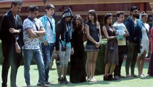 Karan Mehra with his fellow Bigg Boss contestants
