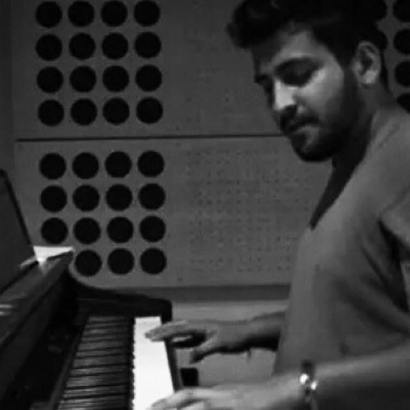 Music Sensation : Ashmik Patil trying some hand on a keyboard