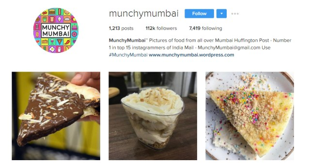 Munchy Mumbai Awesome Instagram Profiles