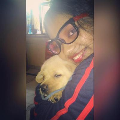 Shilpi Dey With Her Pet Tyson