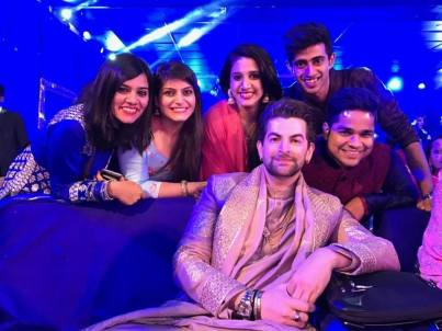 Choreographer Kartik Mohan And Team With Neil Nitin Mukesh At Neil's Wedding