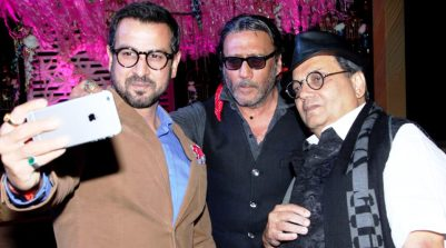 Actor Ronit Roy With Jackie Shroff And Subhash Ghai