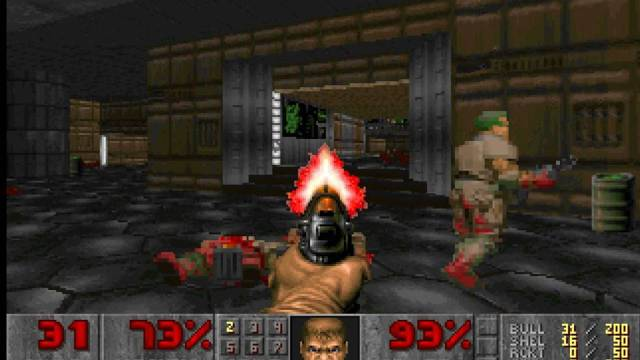 doom, gaming, shooting game, first person shooter, retro game, classic old game