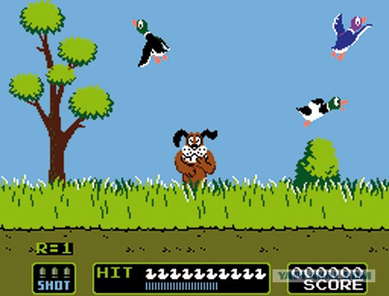 duck hunt, gaming, augmented reality, ar, retro games, classic old games