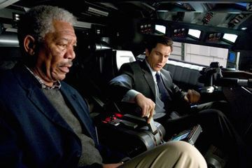 lucius fox, morgan freeman, batman begins, the dark knight