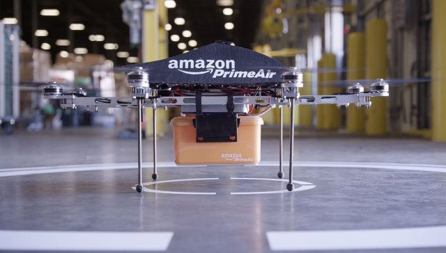 Amazon Drones, Shopping, Door, Customer, flying, Packages, UAV, American, CEO, Jeff Bezos, Capital, Investment, Delivery, Coffee, Amazon,