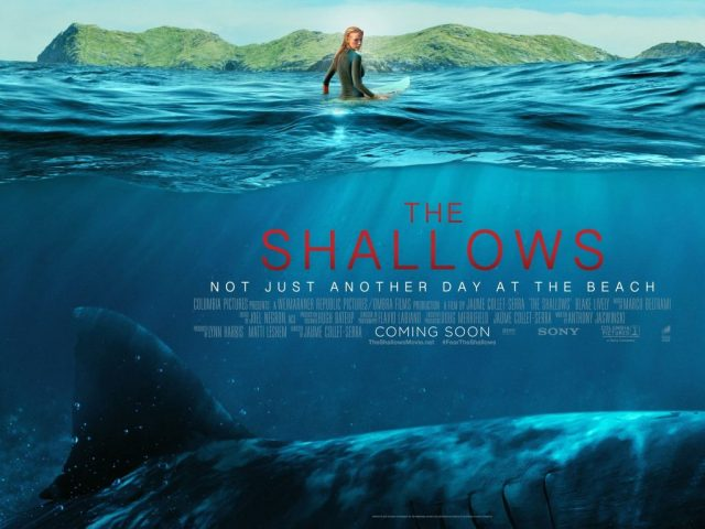 the shallows, movie, review, shark, jaws, blake lively, deep blue sea, megalodon, water, underwater, deadly, reef, thrill