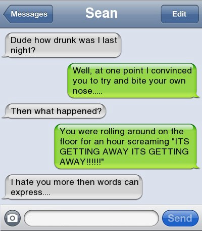 Funniest, text, drunk, drinking, conversations, Optimus Prime, Pillow pet, smart, sex, friend, auto correct, Red Bull, vodka, hilarious, Taio Cruz, parents