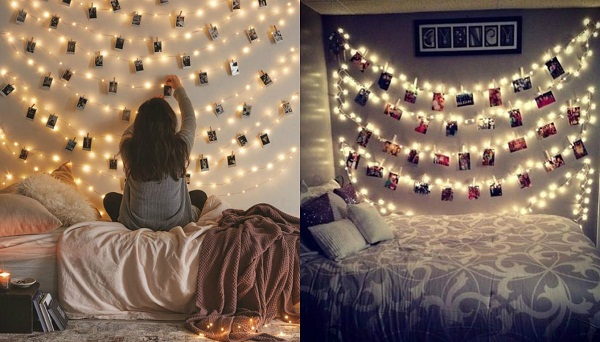 Easy ways to redecorate your room into a paradise with fairy lights fairy light wall aloadofball Choice Image