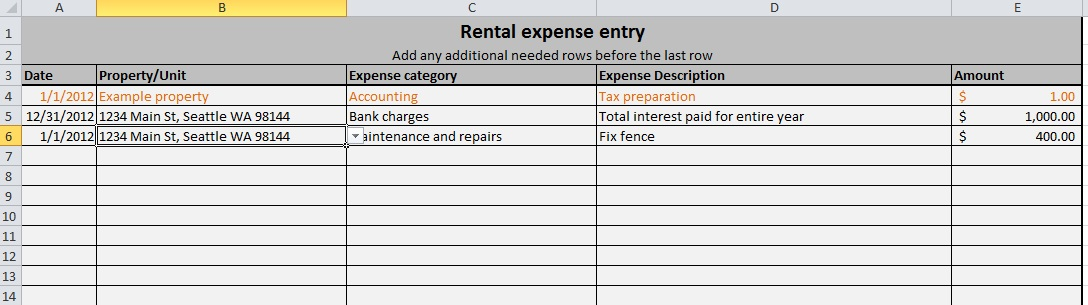 Free expense tracking spreadsheet for your rentals \u2013 we\u0027ve updated