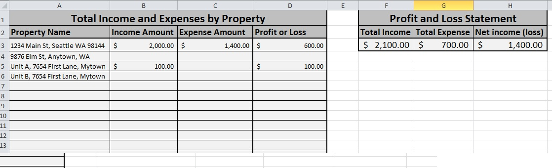 Need help tracking rental income and expenses? Try this simple - profit and loss statement simple