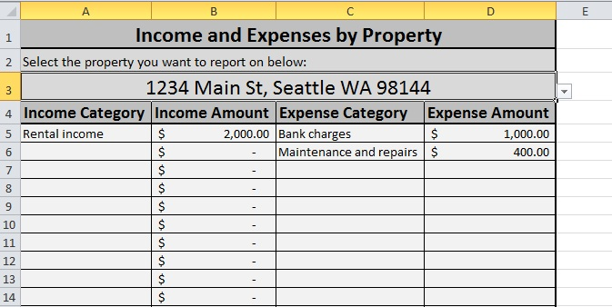 monthly house expenses