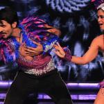 Ashish dances with his partner Shampa on carnival samba  dance
