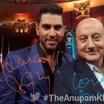 Selfie - Anupam Kher with Yuvraaj Singh