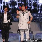 Palak dances with her partner Kruti on Raj Kapoor's epic song