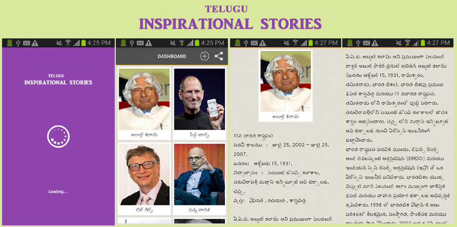 Inspirational stories success telugu