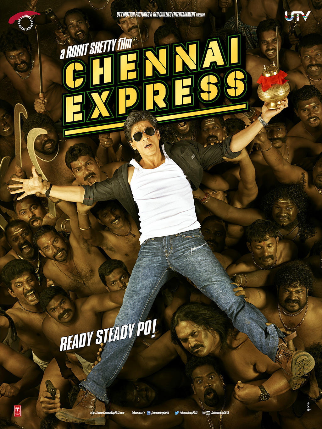 Poster Xpress Srk Chennai Express Movie First Look