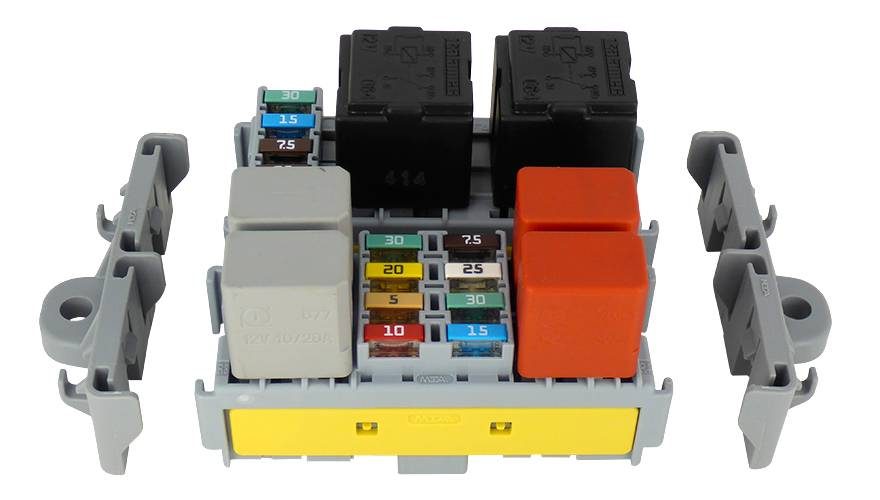 MTA Fuse and Relay holder for 4 Way Mini Fuses and 2 Way Relay