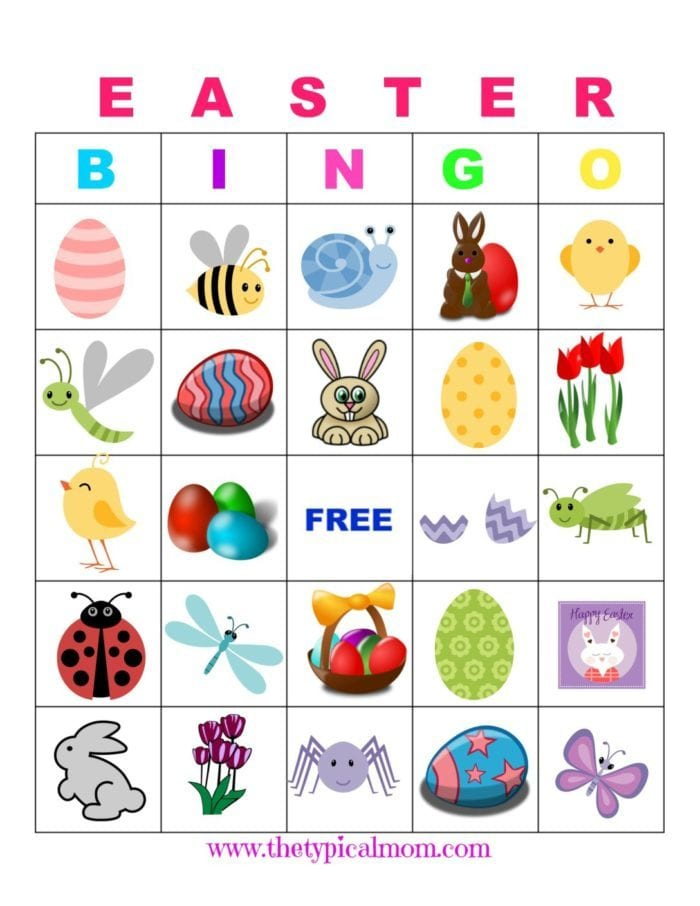 Easter Bingo · The Typical Mom