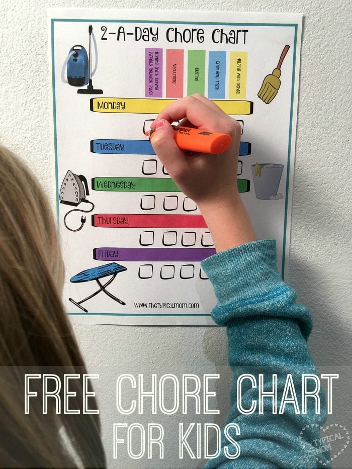 Free printable chore charts · The Typical Mom