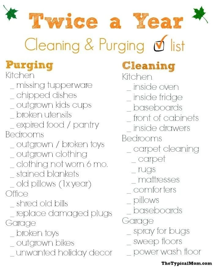 House Cleaning Checklist · The Typical Mom