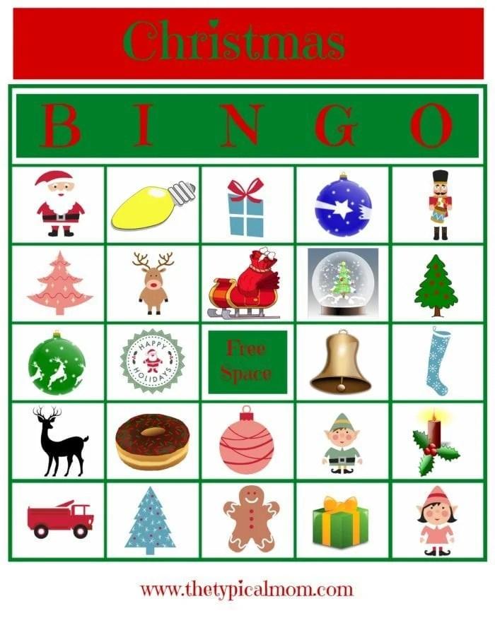 Christmas Bingo Printable · The Typical Mom