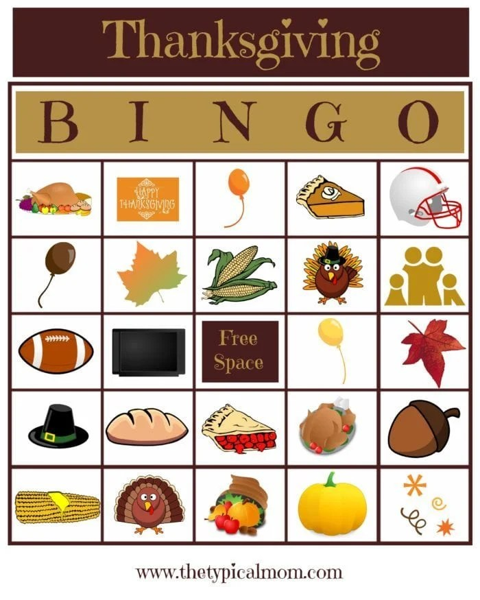 Blank Bingo Cards · The Typical Mom
