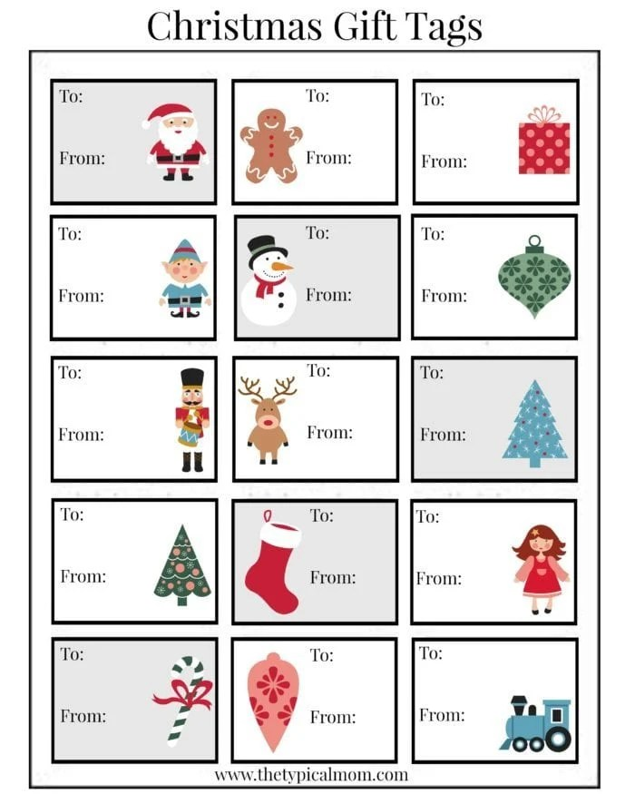 Free Printable Christmas Labels · The Typical Mom