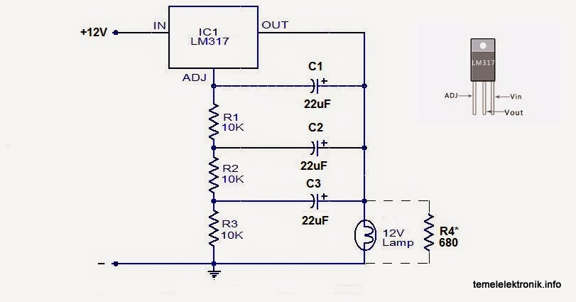 lamp flasher using lm317