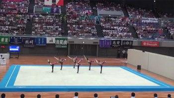 鹿児島実業高校の男子新体操インターハイの演技がキレキレで凄い!【ようかい体操第一】