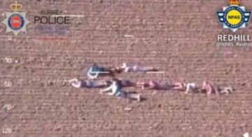 子供たちが矢印作って強盗の位置を警察ヘリコプターに知らせる  速やかな逮捕に成功     コモンポスト